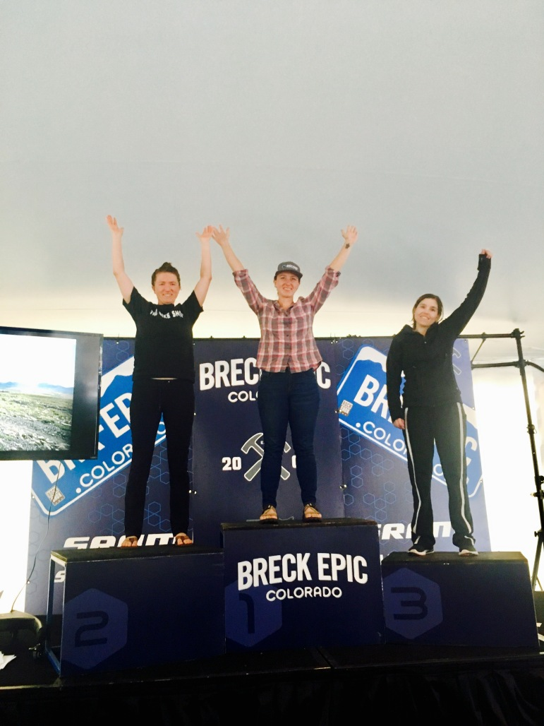 Stage 3 podium.